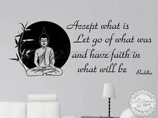 Buddha Inspirational Quote, Accept What Is, Motivational Family Wall Sticker