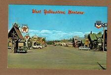 West Yellowstone,MT Montana, nice summer chrome view,Chevron,Texaco
