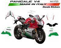 Kit adesivi per Ducati Panigale V4 design tricolore