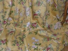 """CHINOISERIE CURTAINS Country House INTERLINED Birds FLORAL Ea 133""""W 95""""D 3 PR AV"""