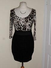 Jane Norman Party Dress Size UK 10-12 Animal Print RRP £42