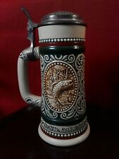 """Avon Brazil Beer Stein~""""At Point"""" English Setter~""""The Strike"""" Rainbow Trout~1978"""
