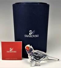 Retired Swarovski Austrian Crystal Parrot # 7621 Art Glass Bird Figurine Box Coa