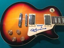 Denny Laine Wings McCartney Signed Autographed Guitar with Inscription and Photo