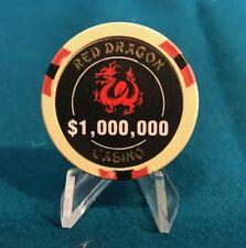 RED DRAGON  $1,000,000 CASINO CHIP - MOVIE PROP - RUSH HOUR - LAS VEGAS