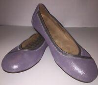 Vionic Women's Caroll Ballet Flats Size 8 Shimmer Purple/Silver, Slip On