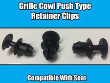 20x CLIPS SEAT IBIZA LEON GRILLE COWL BLACK PLASTIC PUSH TYPE RETAINER 54K