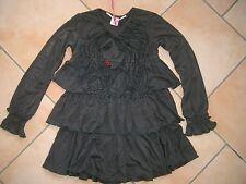 (257) Leichtes Nolita Pocket Girls Kleid mit Volants und Frauen Stickerei gr.128