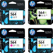 2017-2018 Genuine HP 564 XL Bk IN BOX & 564 Color C,M,Y Ink C5300 C5324 C5370