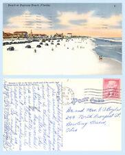Automobiles on the Beach at Daytona Beach Florida 1956 Postcard