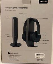Wireless Optical TV Headphones Jelly Comb Over-Ear 2.4GHz Wireless TV Headphones