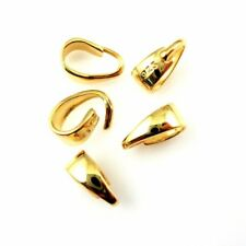 Bail,Gold plated 925 Sterling Silver Bail-Simple Classic Open Bail ( 8.5mm-5pcs)