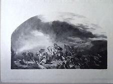Eugene DELACROIX gravure lithographie par Sirouy, Attila au Palais Bourbon paris