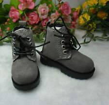 "MSD DOC 1/4 Bjd 17"" Sasha Obitsu 60cm Doll Shoes High Hill Velvet Boots Grey"