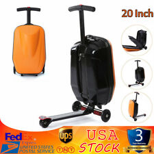 20'' Scooter Travel Carry Luggage Skateboard Suitcase Travel Storage 3 Wheel Us