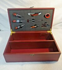 AUTHENTIC AMG MERCEDES BENZ WOODEN WINE STOPPERS BOX