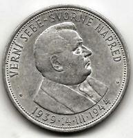 Eslovaquia 50 Korum 1944 plata 5 Aniversario Independencia @ Sin Circular @