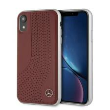 Mercedes Benz For iPhone XR bow II Leather Hard Case Red