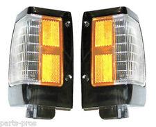 New Chrome Trim Corner Light Lamps PAIR / FOR 1990-97 NISSAN HARDBODY TRUCK