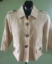 BANANA REPUBLIC - Cotton/Linen Blend - Lt.Maze 3/4 Sleeve Crop Jacket Size S