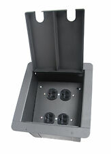 Recessed Church Pocket Stage Floor Box w/4 Ac Outlets