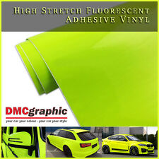 30x152cm High Stretch Yellow Fluorescent Neon Bright Adhesive Vehicle Vinyl Wrap