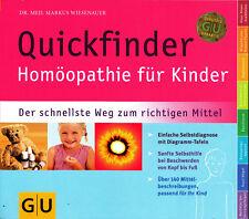 Quickfinder Homöopathie für Kinder, 2016, Dr Wiesenauer, GU, wie neu, UNGELESEN