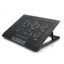 """6 Fan 12""""-17"""" Laptop Tablet USB LED Air Cooling Cooler Adajustable Stand Pad"""