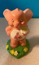 "Vintage 1980s Care Bears Cousins 3.5"" ceramic figure - Lotsa Elephant Heart"
