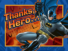 BATMAN Heroes and Villains THANK YOU NOTES (8) ~ Birthday Party Supplies Cards