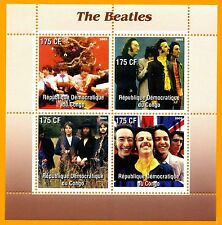 BEATLES 2003 Congo Stamp Block #2; perforated; mnh; Ringo Smile