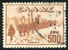 Le truppe dell' Albania Vintage timbro Greco PHOTO art print poster foto bmp1319a