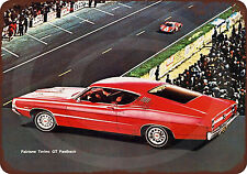 1968 Ford Fairlane Torino GT Fastback Reproduction Metal Sign 8 x 12 made USA