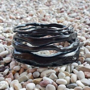 Genuine Handmade Coral Bangle Indonesian Black Akar Bahar Bracelet #17