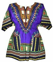 Elastic Waist Dashiki African Blouse Women Traditional Dress Top One Size