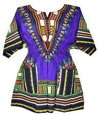 Elastic Waist Dashiki African Blouse Women Traditional Dress Top One Size