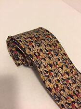 100 Year Anniversary Artifacts Museum Teddy Bear Tie Handmade 100% Silk