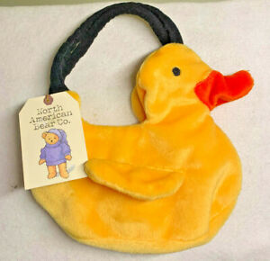 North American Bear Rubber Ducky Purse Goody Bag Tote Yellow Easter NWT Quack!