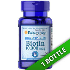 Ultra Mega Biotin 10,000mcg 50 Softgels (d-Biotin) by Puritan's Pride