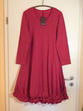 BORIS INDUSTRIES Knoten Kleid 48 50 NEU LAGENLOOK kirschrot A-Form Stretch