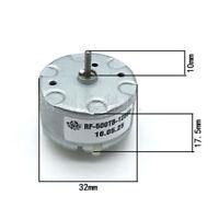 1pc RF-500TB-12560 DC 6V 2700RPM 0.588N.M Torque 0.028A Motor cepillado Plata