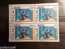 ITALIE ITALIA, 1976, timbre 1276, QUARTINA EXPO PHILATELIQUE neuf** VF MNH STAMP