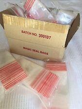 100 ziplock press seal bags 50 x 75 mm  5 x 7.5 cm 2 x 3 in zip lock IN AUSSIE
