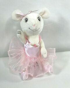 """American Girl Angelina Ballerina Plush Jointed White Mouse Doll Pink Tutu 9"""""""