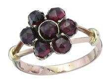 Blüten Ring Granat 333er Rosegold
