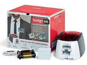 Badgy 200 Plastic Card Printer 95 CPH 38 Second Per Card 1 Colour Ribbon