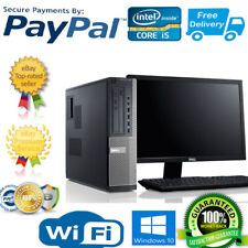 "DELL DESKTOP i5-3RD GEN 8GB-1TB HDD PC  COMPUTER TOWER  WIN10/Office 19"" LCD"