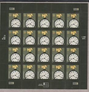 US AMERICANA 2003 SCOTT #3757 GOLD EAGLE CLOCK 10c MINT NH VF 20 STAMP SHEET