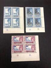 Malaya Perak 1957 20C + 50C + $1 Plate Block 4 MNH  Malaysia