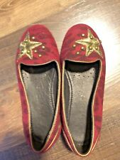 4032b425522 GEOX RESPIRA BALLERINA FLATS KIDS US Size 11 Red And Gold